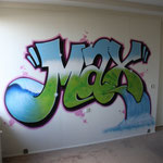Kinderkamer, kidsroom, graffiti, waterval, waterfall