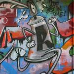 HerzOne graffiti, spraycan