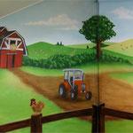 Kinderkamer, kidsroom, boerderij, farm