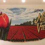 Tulpen, bollenveld, tulips