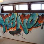 Kinderkamer, kidsroom, skateboard, graffiti