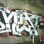 HerzOne graffiti, 1995 NYC, zilverpiece