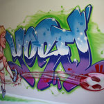 Kinderkamer, kidsroom, voetbal, soccer, Ajax, graffiti