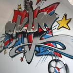 Kinderkamer, kidsroom, graffiti, Skye