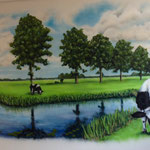Weiland, koe, farmland, meadow, cow