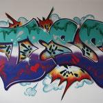 Kinderkamer, kidsroom, girls, graffiti