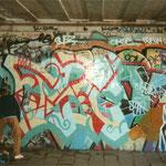 HerzOne graffiti, 1991 Vondelbrug, Vondelpark, Amsterdam
