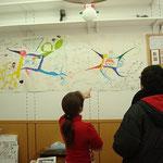 秋のイベント11月以降、12月までステーションにマインドマップを掲示しました。