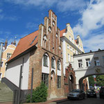 typische Häuserfassade in Rostock