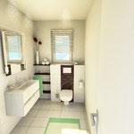 Planung der Waschtisch-Anlage sowie WC-Anlage