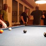 Mittwochs- Billiardspiel im Dorftreff