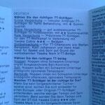 Informationen zum Schläger auf Deutsch