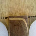 """Aufdruck """"clipper wood"""" Rückhandseite"""