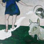 "Ulla Nentwig 2012 ""Nenn mich wie Du willst "" Acryl auf LW,130x150cm"