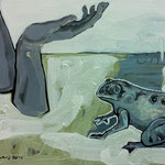 "Ulla Nentwig 2016 "" froh sein"" Acryl auf LW, 50x70cm"