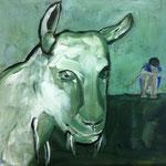"""Ulla Nentwig 2015 """" Traume"""" Acryl auf LW, 20x30cm"""