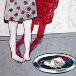 """Ulla Nentwig 2013 """"Orakel """" Acryl LW,120x120cm"""