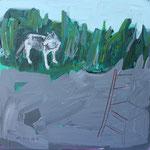 """Ulla Nentwig 2015 """" In der Nacht"""" Acryl auf LW, 50x50cm"""