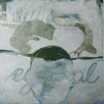 """Ulla Nentwig 2015 """"egal """" Acryl LW,120x120cm"""