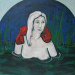 """Ulla Nentwig 2012 """"Luft holen"""" Acryl auf LW,120x120cm"""
