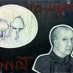 """Ulla Nentwig 2017 """" Muhmentanz"""" Acryl auf LW, 50x70cm"""