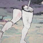 """Ulla Nentwig 2008 """"Weg laufen """" Acryl auf LW,120x100cm"""