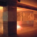 """Ulla Nentwig 2004 """"One Nigth"""" 20 m. Scherenschnitt, Licht"""