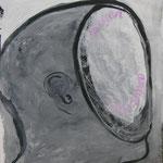 """Ulla Nentwig 2009 """" Morgen antworten """" Acryl auf Papier, 100x70cm"""