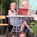 Geneviève Responsable Festival, internet et Claude