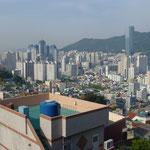 Vue sur la ville de Busan (côte sud)