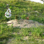 Une tombe dans le village isolé de Sangrelaya