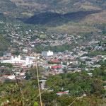 Juticalpa vue de la montagne