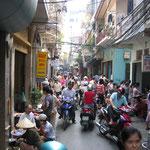 Une rue encombrée