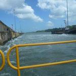 Passage du taxi au niveau de l'eau