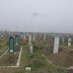 Cimetiere musulman pres de Grozny