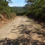 La route pour se rendre dans la communauté Bribri