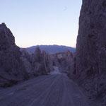 Paysage dans la cordillière des Andes