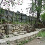 Le mur après le séisme