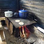 """Une cuisine dans le """"restaurant"""" de Iriona (cote caraibe)"""