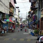 Scène de vie dans une rue à Manille