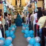 Messe et en même temps la cérémonie des  ans d'une jeune fille