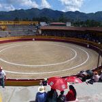 Les arènes de San Cristobal avant le corrida