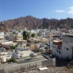 Vue de la banlieue de Muscat