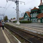 Un arrêt dans une gare