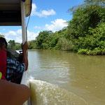 sur le rio entre le Costa Rica et le Nicaragua