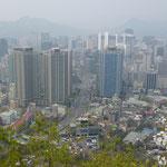 Séoul sous la brume