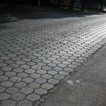 beaucoup de route et rue sont pavées