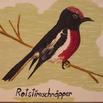 Rotstirnschnäpper 2014 / 25x30 / € 90.-