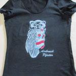 T-Shirt sugar skull Eule Juli 2015