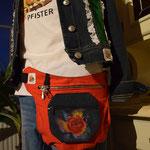 Verkäuflich! Upcykling HIP BAG aus alten Jeans. November 2016
